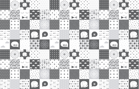 mod baby » cheater quilt grey fabric by misstiina on Spoonflower - custom fabric