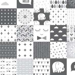 mod baby » grey wholecloth cheater quilt 4in