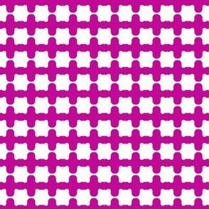 Beads Purple White Plain