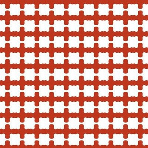 Bead Squares Brown White