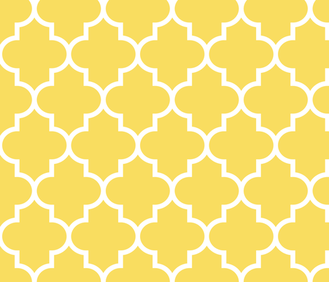 quatrefoil LG butter yellow fabric by misstiina on Spoonflower - custom fabric