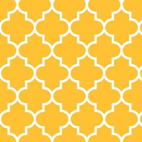 quatrefoil LG golden honey