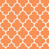 quatrefoil LG tangerine