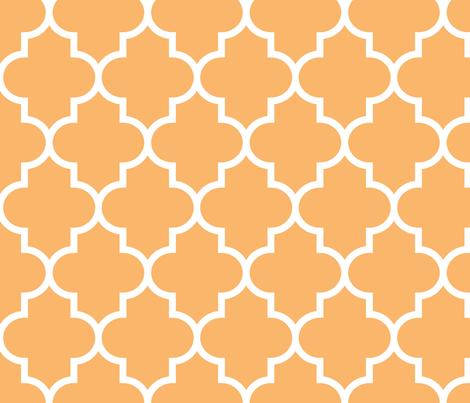 quatrefoil LG mango fabric by misstiina on Spoonflower - custom fabric