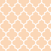quatrefoil LG creamy peach