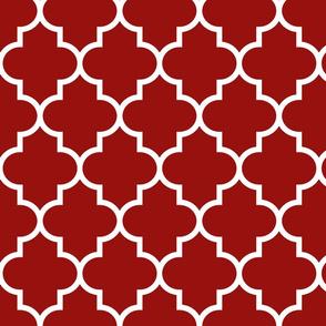 quatrefoil LG dark red