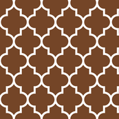 quatrefoil LG chocolate brown
