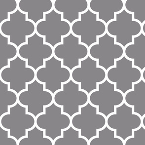 quatrefoil LG granite grey