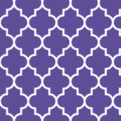 quatrefoil LG purple