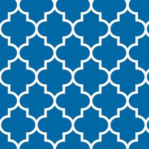 quatrefoil LG royal blue