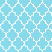 quatrefoil LG sky blue