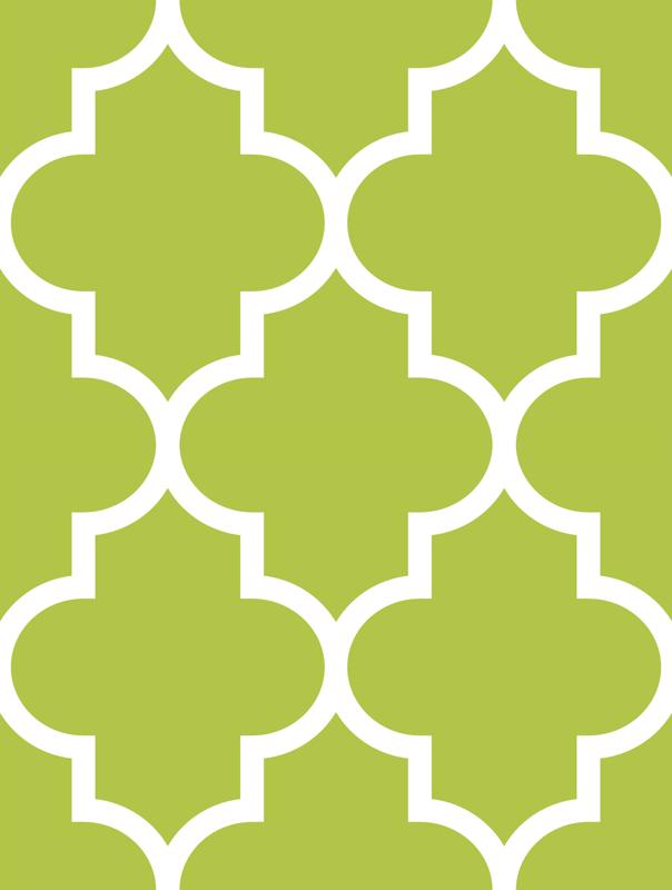 Beautiful quatrefoil LG lime green fabric - misstiina - Spoonflower DD87
