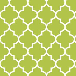 quatrefoil LG lime green