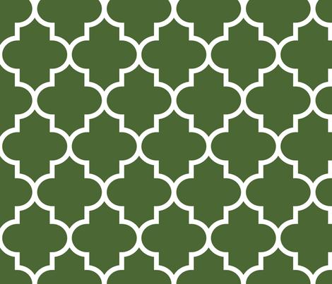 quatrefoil LG hunter green fabric by misstiina on Spoonflower - custom fabric
