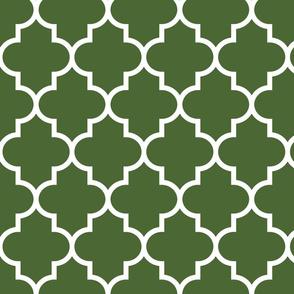 quatrefoil LG hunter green