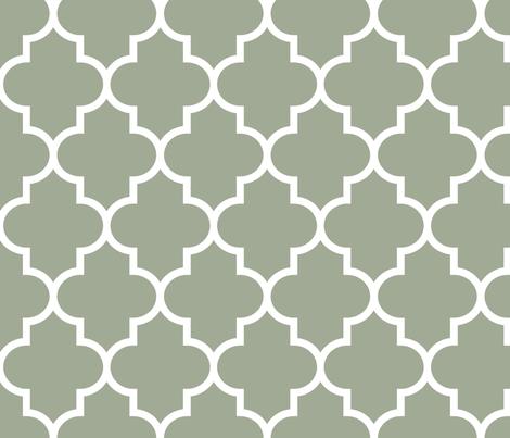 quatrefoil LG sage green fabric by misstiina on Spoonflower - custom fabric