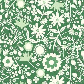 Wild Flowers in Green