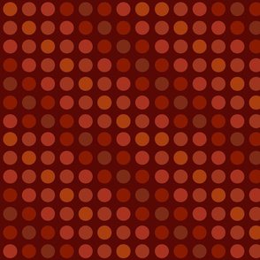 Polka dots brown rust orange
