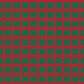 Bead Squares Red Green Circles