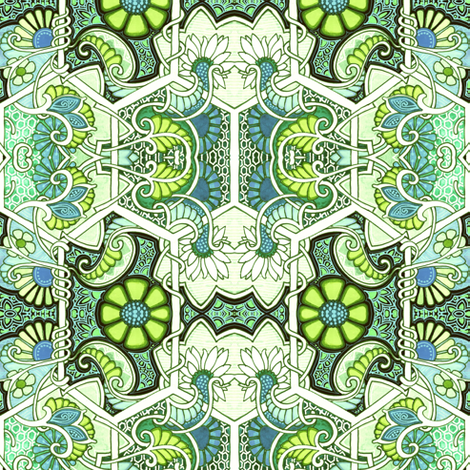 How Green Was My Garden fabric by edsel2084 on Spoonflower - custom fabric