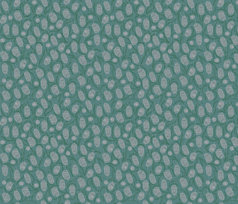 Rolly Pollies fabric Teal Small fabric by freshpressedprints on Spoonflower - custom fabric