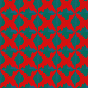 Red Blue and Green Abstract Parrern