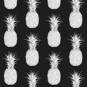 Pineapples Black And White