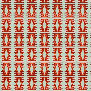Tribal Blanket Red Orange Grey
