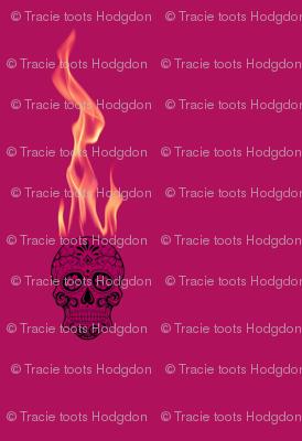 Flame Skull - Purple Haze