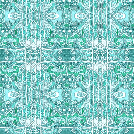 Aqua Green Fanta-Sea fabric by edsel2084 on Spoonflower - custom fabric