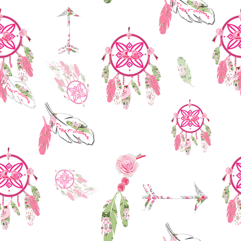 Dream Catchers Lullaby fabric by karenharveycox on Spoonflower - custom fabric