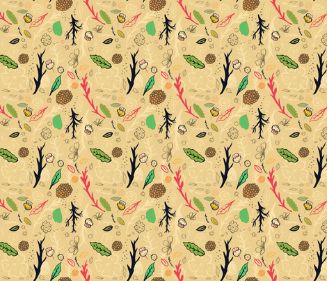 Natura 100 fabric by lisabarbero on Spoonflower - custom fabric