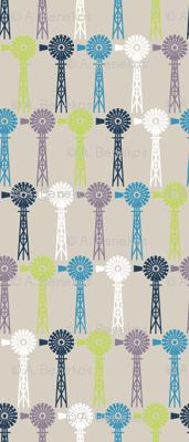 Breezy Windmills - Beige