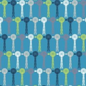 Breezy Windmills - Blue