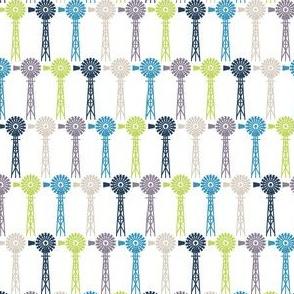 Breezy Windmills - White