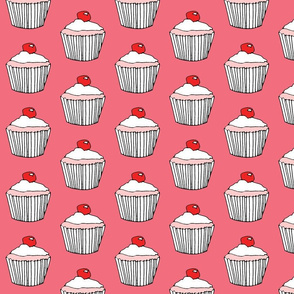 StrawberryVanilla Cupcake