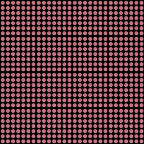 Polka dots pink on black