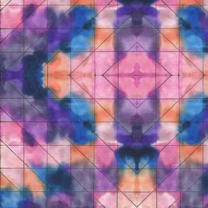 watercolor batik pink