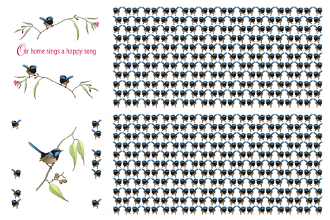 Wren_cusion_2_40cm_x_40cm fabric by tat1 on Spoonflower - custom fabric