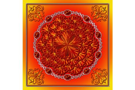 January_stone_flower_metallic_skarf_K_v4 fabric by stradling_designs on Spoonflower - custom fabric