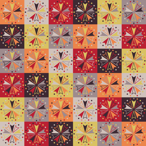 Circus Squares - Festival Fire fabric by siya on Spoonflower - custom fabric