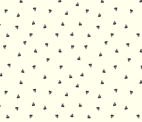 Watercolor Grey triangles fabric by creativeqube_design on Spoonflower - custom fabric