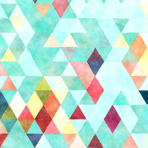 Show Day Watercolor Triangles