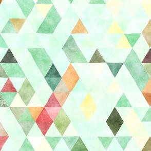 Picnic Watercolor Triangles