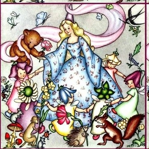 fairy bears elf queens princesses butterfly flowers roses insects rats mouse children monkeys ladybugs mushrooms porcupines hedgehogs squirrels birds pixie gnomes caterpillars fantasy