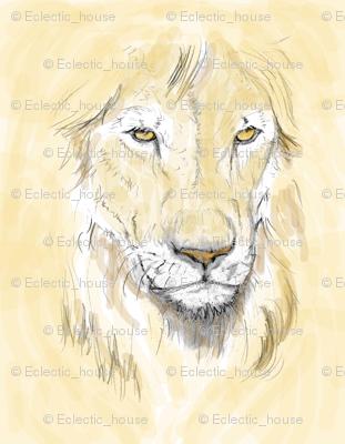 Lion Portrait, Tinted 2