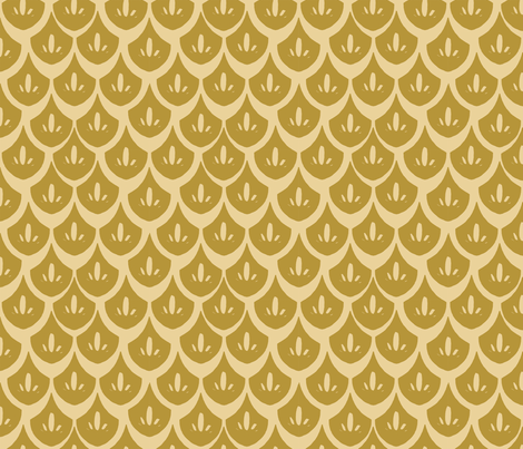 Royal Gold V2 Fabric By Kitelin On Spoonflower