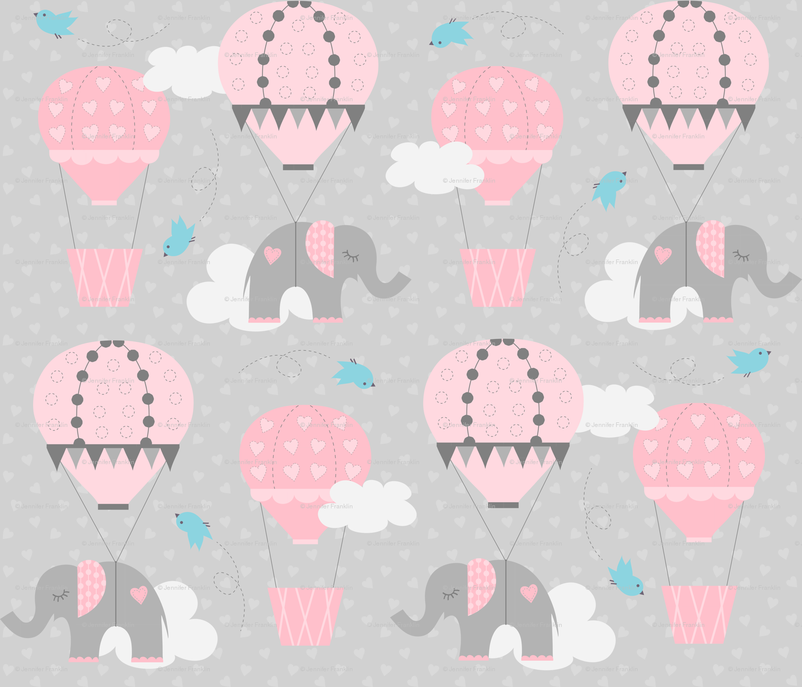 Hot Air Balloon Elephant Wallpaper