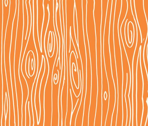 Wonky Woodgrain - Orange fabric by jesseesuem on Spoonflower - custom fabric