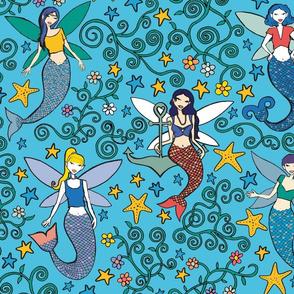 Fermaids (mermaid fairies)